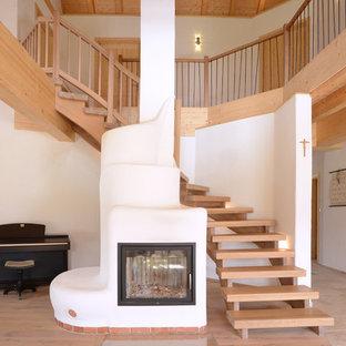 Gewendelte Landhausstil Treppen Ideen Design Bilder Houzz