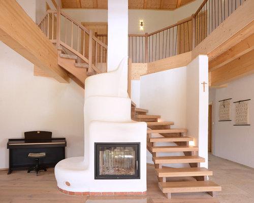 landhausstil treppen ideen design bilder houzz. Black Bedroom Furniture Sets. Home Design Ideas