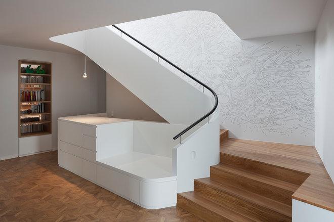 Contemporary Staircase by wiewiorra hopp schwark architekten