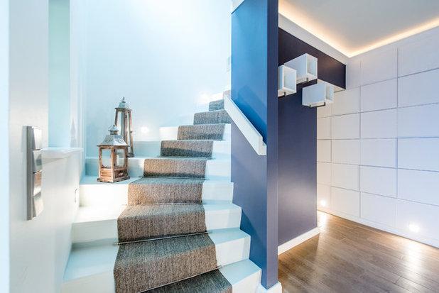 Contemporary Staircase by MFG Meisterbetrieb