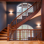 Tile Stair Risers Transitional Staircase Dallas By