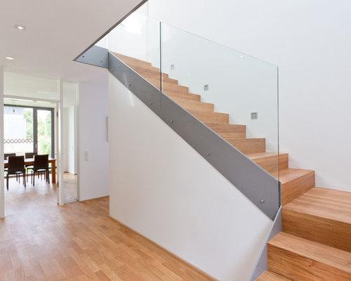 Glasgeländer Treppe glasgeländer treppe ideen bilder houzz
