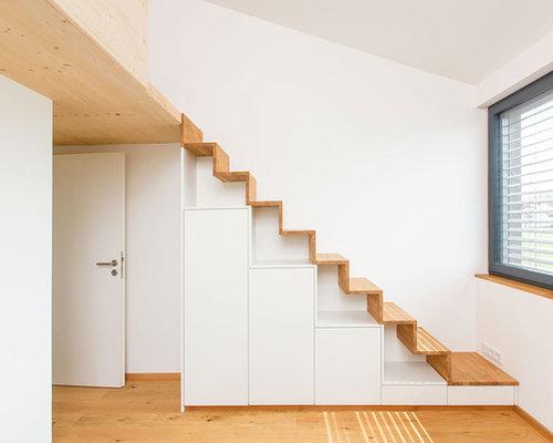 kleine gerade treppen ideen design bilder houzz. Black Bedroom Furniture Sets. Home Design Ideas