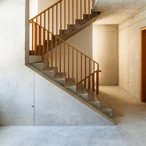 Inspiration Für Große Moderne Betontreppen In U Form Mit Beton Setzstufen  In Stuttgart
