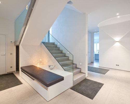 25 best concrete u shaped staircase ideas photos houzz for Garage infiniti lyon