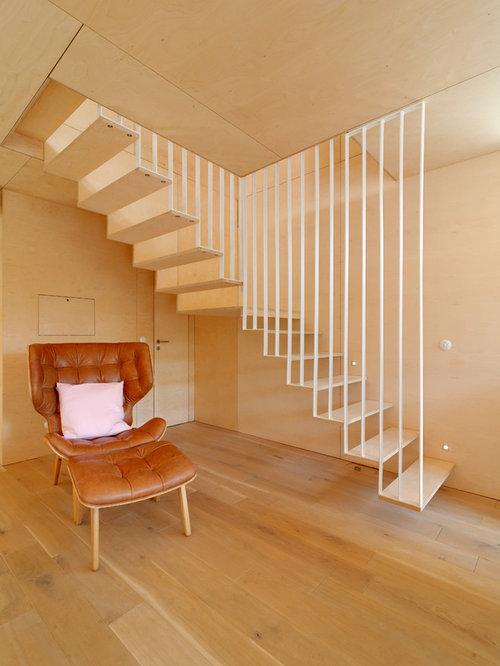 moderne treppen in l form ideen f r treppenaufgang treppenhaus houzz. Black Bedroom Furniture Sets. Home Design Ideas