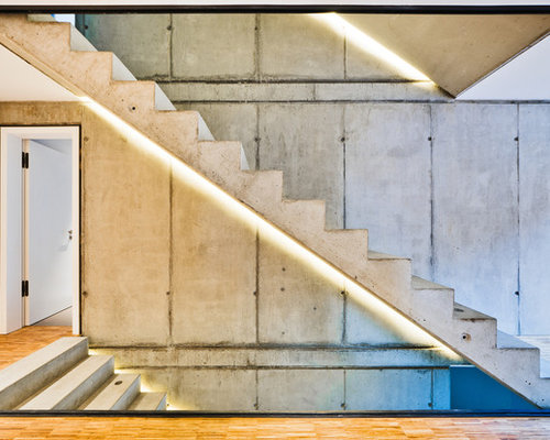 betontreppen ideen f r treppenaufgang treppenhaus. Black Bedroom Furniture Sets. Home Design Ideas