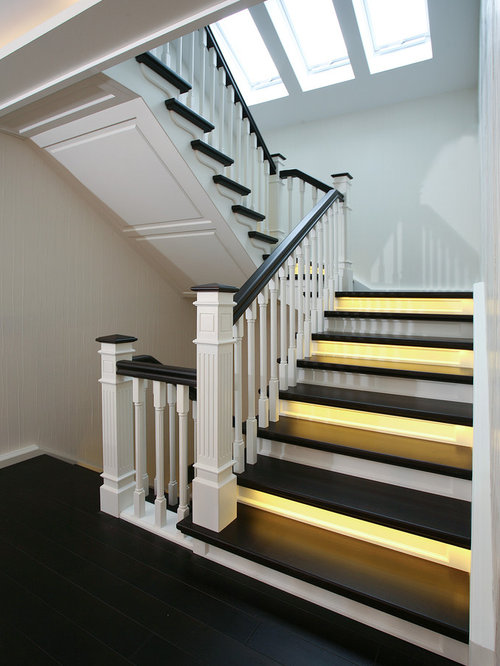 klassische treppen in u form ideen design bilder houzz. Black Bedroom Furniture Sets. Home Design Ideas