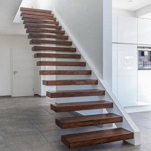 Moderne Holztreppe moderne holztreppen ideen, design & bilder | houzz