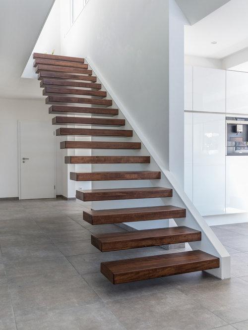 Treppen Ideen schwebende treppen ideen design bilder houzz
