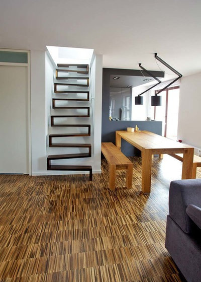 Contemporary Staircase by lifestyle-treppen.de