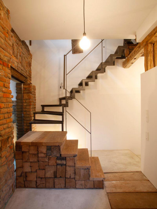 Small Rustic Staircase Design Ideas Renovations amp Photos
