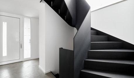 До и после: Черная лестница с эффектным изгибом