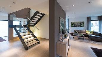 Treppe mit Glas