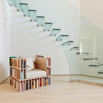 Treppen ganz aus Glas, Foyer Treppen