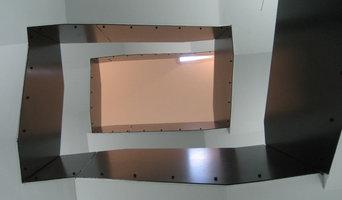 Treppengeländer aus Stahlblech