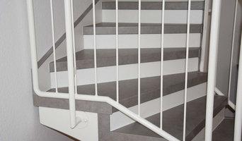 Treppenrenovierung einer Betontreppe mit Lamint