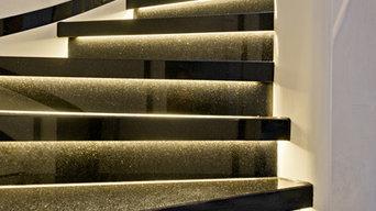 Treppenrenovierung Holztreppe & Holzdiele mit echtem Stein