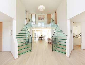 Unique glass stairs for residential property