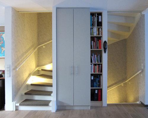 treppen mit holz setzstufen und teppich treppenstufen ideen design bilder houzz. Black Bedroom Furniture Sets. Home Design Ideas