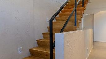 Wandgestaltung im trendigen und puristischen Betonlook