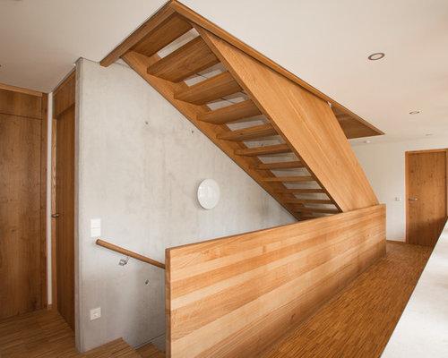 rustikale treppen - ideen für treppenaufgang & treppenhaus - Modern Und Rustikal Mit Treppenhaus