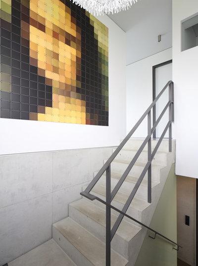 Современный Лестница by Architekturbüro zwo P Planungsgesellschaft mbH