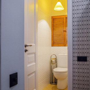 Idee per un bagno di servizio scandinavo di medie dimensioni