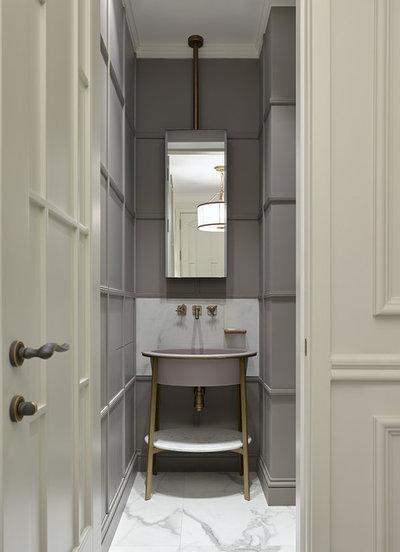 Современная классика Туалет by Ariana Ahmad Interior Design