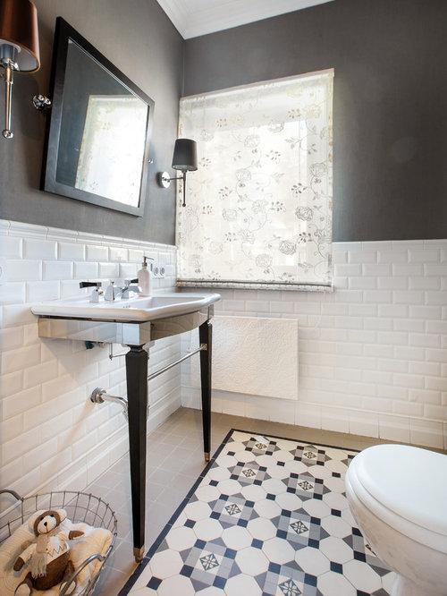 Photos et id es d co de wc et toilettes avec un carrelage for Idee deco urbain
