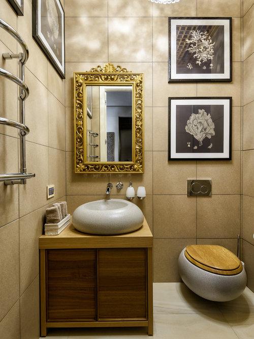 Photos et id es d co de wc et toilettes avec des portes de for Placard suspendu wc