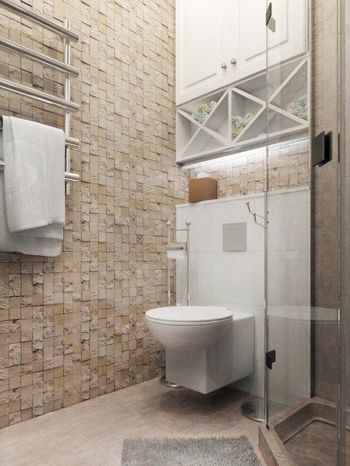 Photos et id es d co de wc et toilettes avec des dalles de for Decoration wc tendance