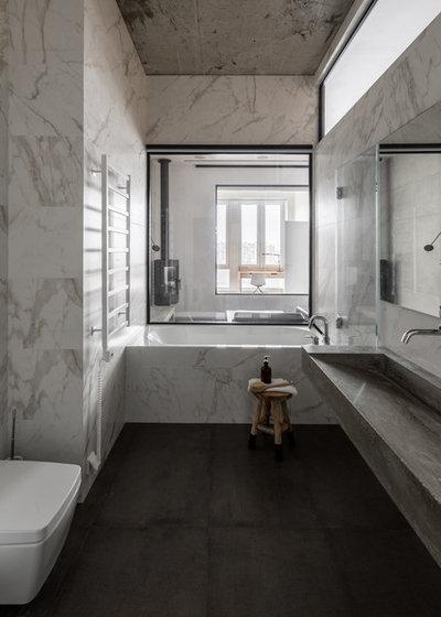 Современный Туалет by Архитектурная студия Ruetemple