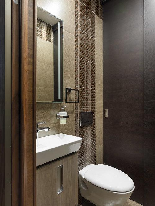 photos et id es d co de wc et toilettes avec un carrelage marron. Black Bedroom Furniture Sets. Home Design Ideas