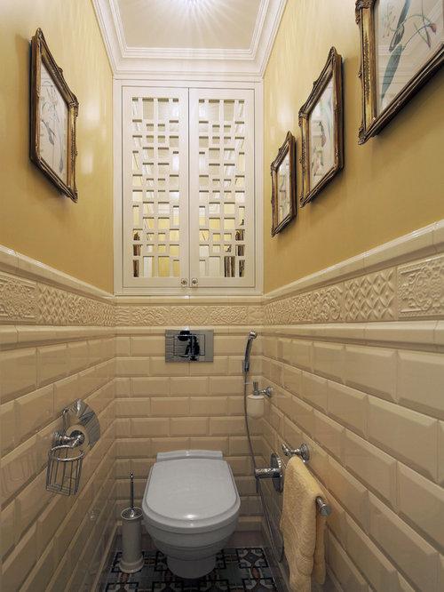 Foto e idee per bagni di servizio bagno di servizio con - Piastrelle diamantate bagno ...