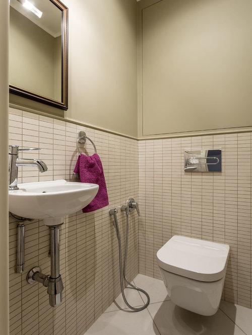 Ideas para aseos dise os de aseos con sanitario de pared - Azulejos aseo pequeno ...