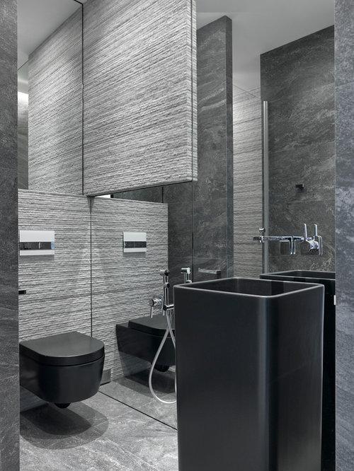 g stetoilette g ste wc mit grauen fliesen und. Black Bedroom Furniture Sets. Home Design Ideas