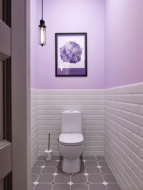 photos et id es d co de wc et toilettes avec un mur violet. Black Bedroom Furniture Sets. Home Design Ideas