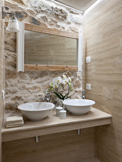 30 best mediterranean powder room ideas decoration - Mediterranes badezimmer ...