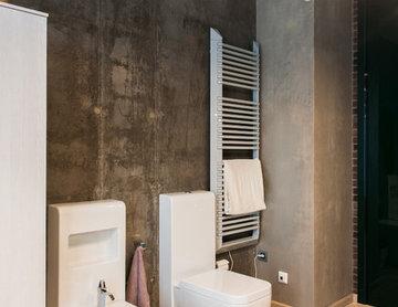 Стихия бетона. Интерьер квартиры в стиле LOFT.