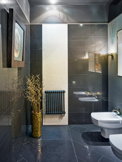 Foto e idee per bagni di servizio grande bagno di servizio for Piastrelle linoleum bagno