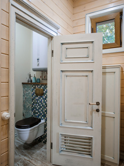 Shabby chic style powder room design ideas remodels for Commode style shabby