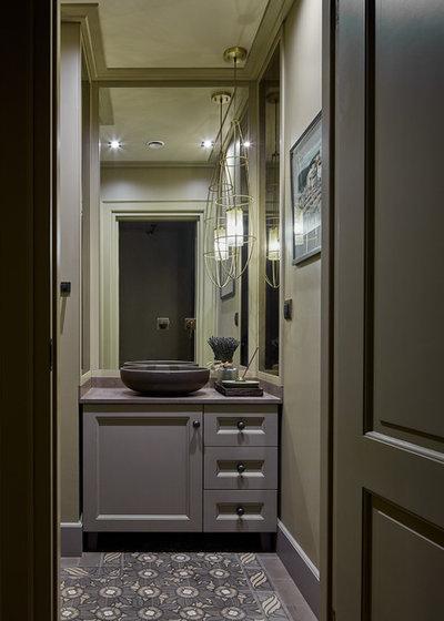Современная классика Туалет by Anna Pavlovskaya Interiors