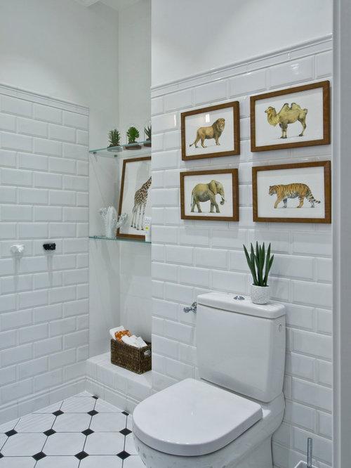 photos et id es d co de wc et toilettes avec un carrelage m tro. Black Bedroom Furniture Sets. Home Design Ideas
