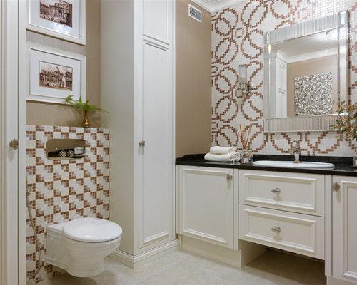 Bagno Con Mosaico Nero : Foto e idee per bagni di servizio bagno di servizio con