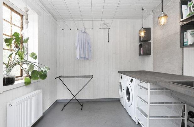 Scandinavian Laundry Room by Fastighetsbyrån