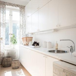 Idéer för minimalistiska tvättstugor