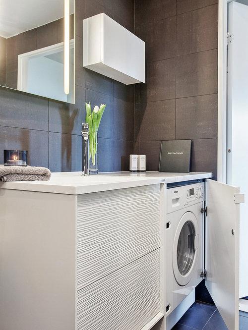 Foton och inredningsidéer för moderna tvättstugor