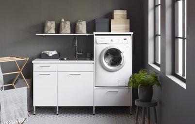 11 einfache Einrichtungsideen, die das Wäschewaschen versüßen