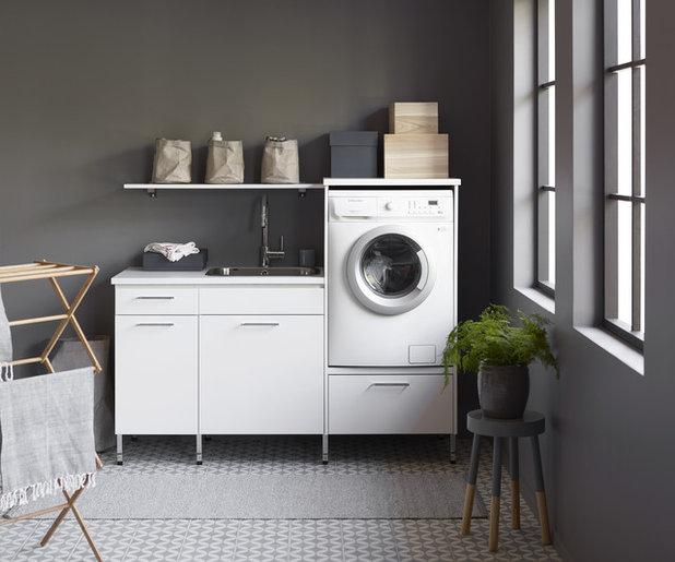 Scandinavian Laundry Room by Vedum Kök & Bad